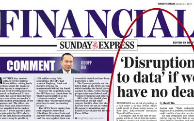 Sunday Express: 'Disruption to data' if we have no deal.